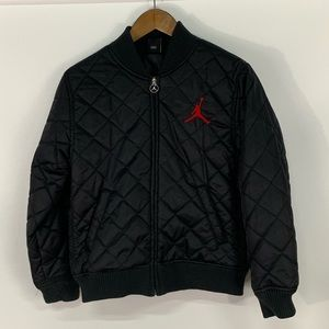 Jordan Embroidered Quilted Bomber Jacket
